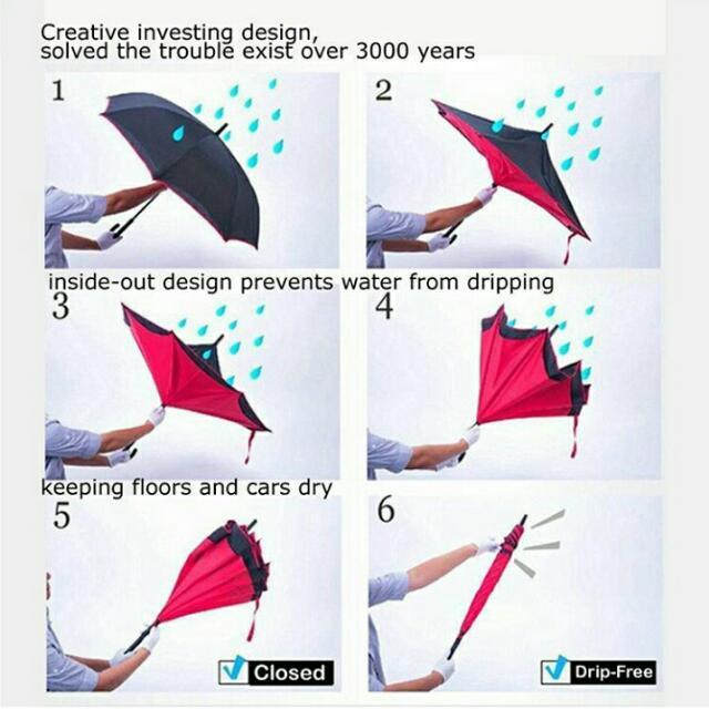Payung Terbalik Aneka Warna...