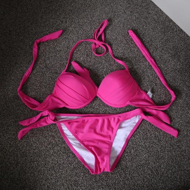 Pink Victoria Secret Bikini.