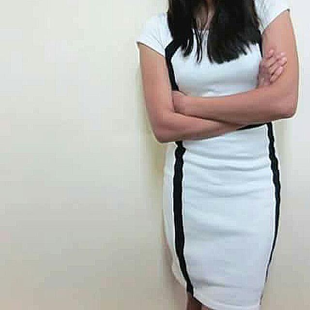 Knee Length White Dress