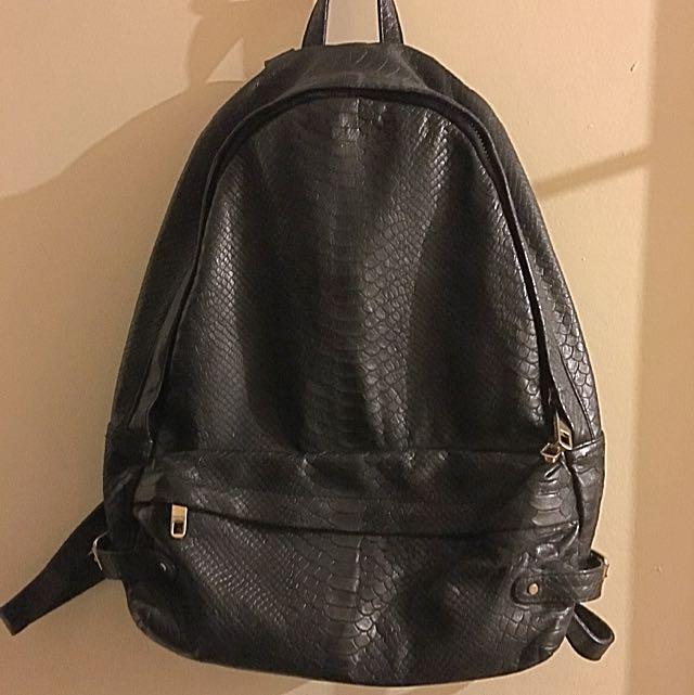 Rebecca Minkoff Black Snake backpack
