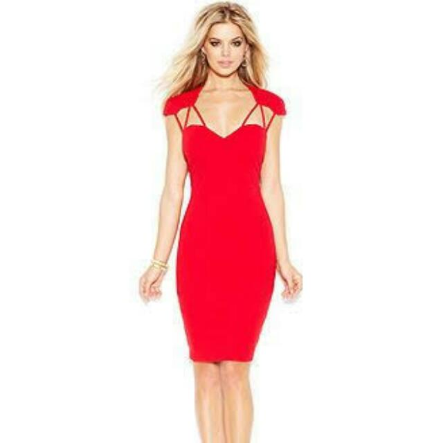 Red GUESS dress XS