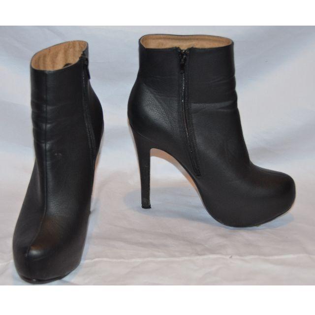RUBI Black Heel Ankle Boots