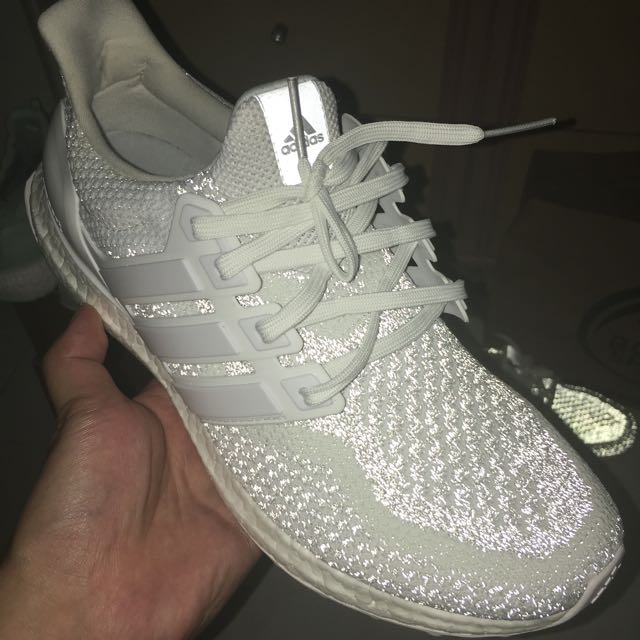 ab4db5afa1e Sale  Ultra Boost 2.0 Triple White Reflective