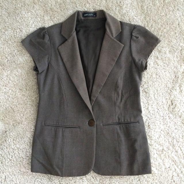 Simplicity Short Sleeved Blazer