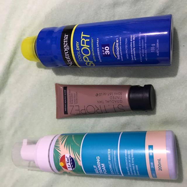 Sunscreen Tan St tropez