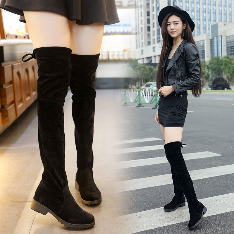 Thigh high / over the knee black boots