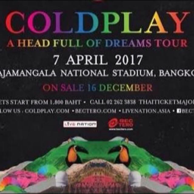 TIKET COLDPLAY BANGKOK