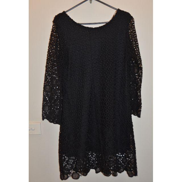VALLEY GIRL Black Shift Dress