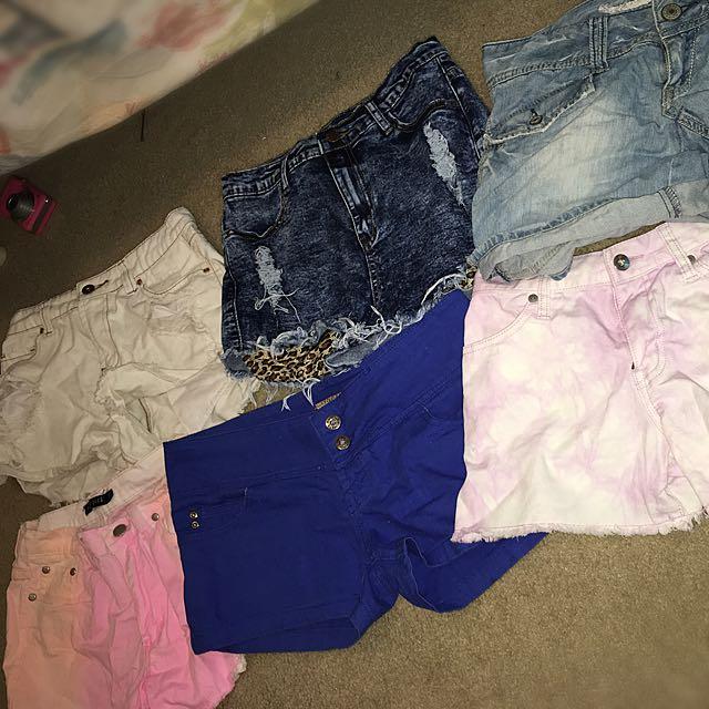 Various denim shorts $5