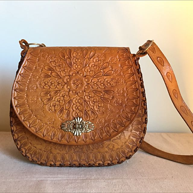 Vintage Hand Tooled Leather Bag Women S Fashion Bags
