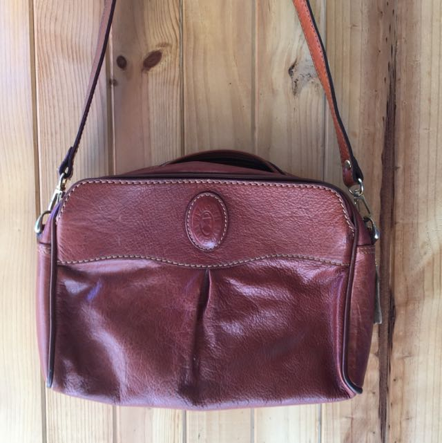 Vintage Leather Pilgrim Bag