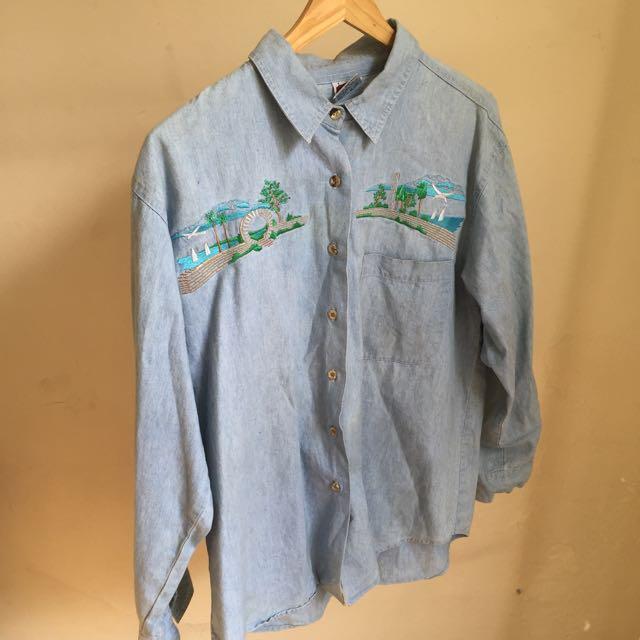 Vintage Peruvian Embroidered Shirt