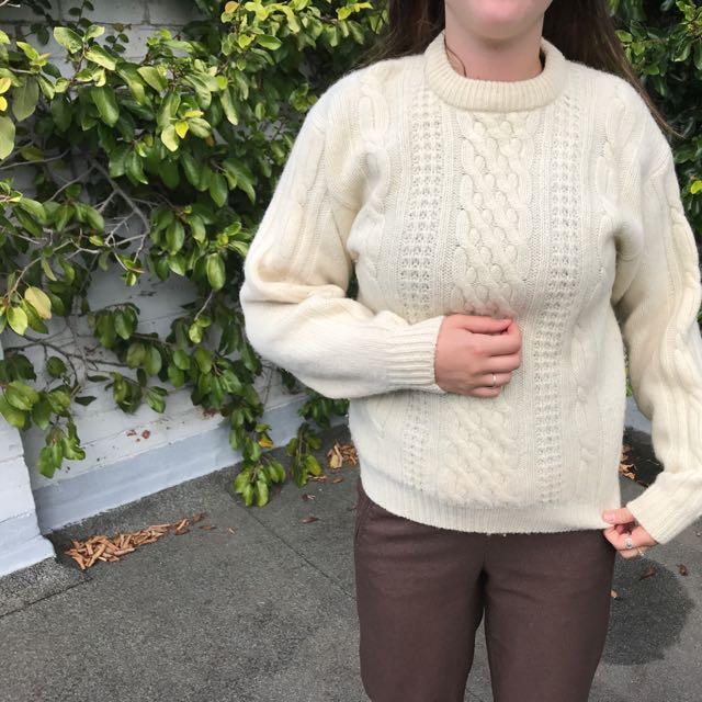 Vintage Wool Jumper 100%