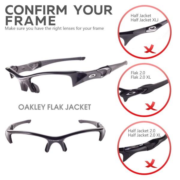 7941898a77 Walleva Flak Jacket Titanium POLARIZED Replacement Lenses for Oakley Flak  Jacket Sunglasses