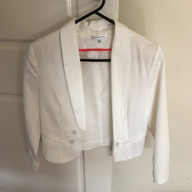 White Valley Girl Blazer Jacket