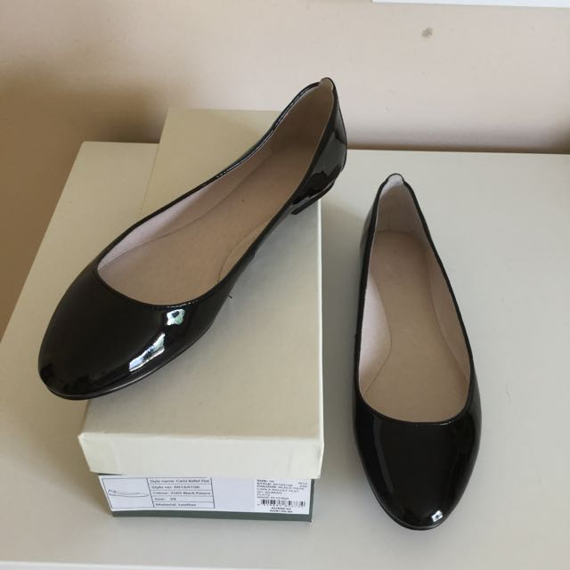 Witchery Black Patent Ballet Flats