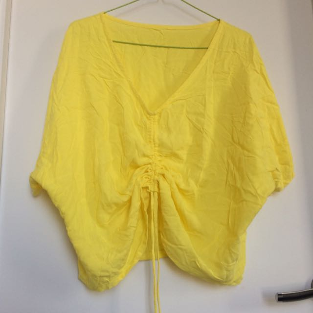 Yellow Summer Top Length Adjustable