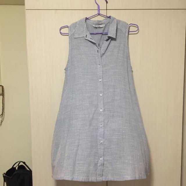 dbb2bb8f896 Zara Stripe Dress With Pockets