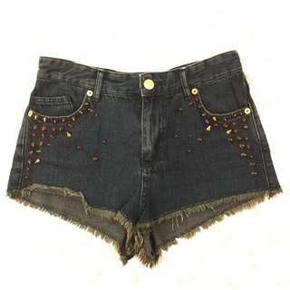 Topshop Studded Shorts