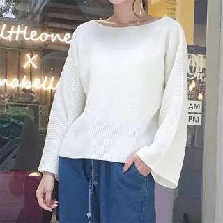 韓國🇰🇷寬袖薄針織上衣(四色)