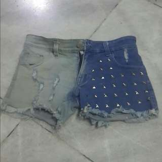 TWO-TONE COLOUR HOTPANTS