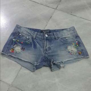 COLORFUL BEADS HOTPANTS
