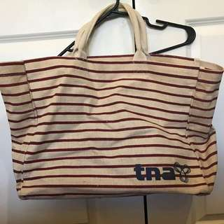 Aritzia TNA Large Straw Overnight Bag