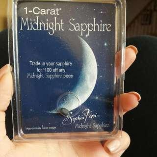 1 Carat Midnight Sapphire