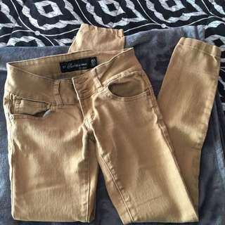 Beige jean pants