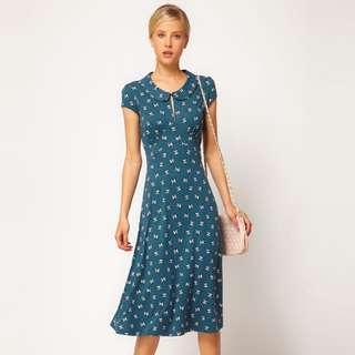 Women's ASOS Teal Midi Dress