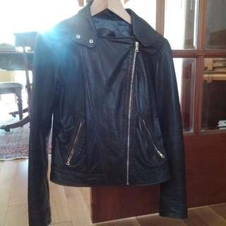 Massimo Dutti Leather Jacket Brown