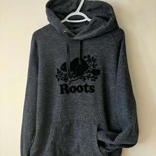 Roots Pullover Hoody Black Men's Large