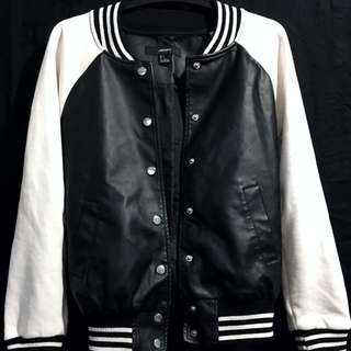 Forever 21 Leather Varsity Jacket