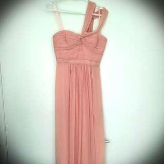 Pale Pink BCBG One Shoulder Dress