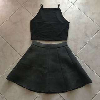 Esther Boutique Flare Skirt + Dotti Cropped Halter