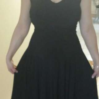 Black Dress Laura Free Size Worn Only Once