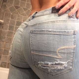 distressed jeans - american eagle #DIRTY30