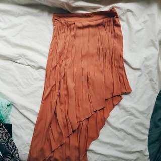 Orange Waterfall Skirt (S)