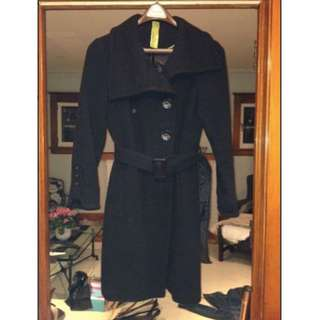 Soia & Kyo black wool coat (size M)