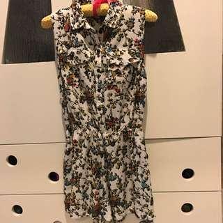 TOPSHOP Jumpsuit Flower