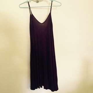 Boohoo Maroon Swing Dress Size 8