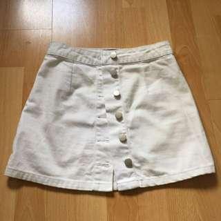 White Denim Mini Skirt Size 6