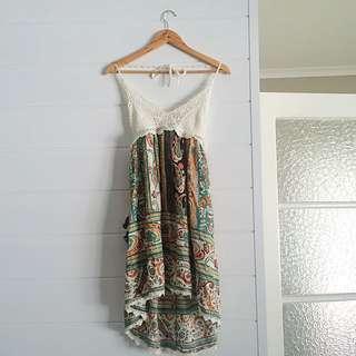 Crochet Beach Dress With Low Back