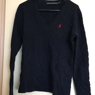 Ralph Lauren Navy Cable Knit Jumper
