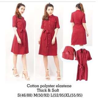 Vanlig Office Look Red Dress