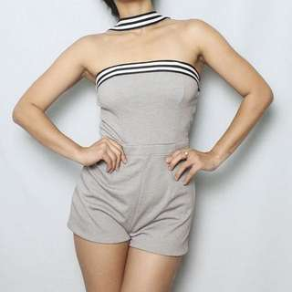 S A L E !!! Grey Mini Jumpsuit