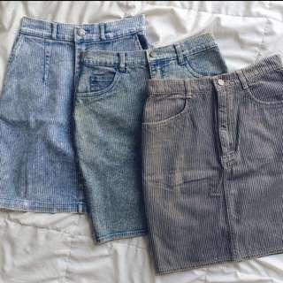 Casual Denim Skirt