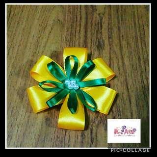 🎀 Handmade Flower Ribbon Brooch 🎀