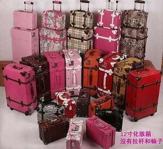 超人氣!韓國復古箱復古拉桿箱旅行箱行李箱子母箱可愛潮女手提結婚箱 韓國復古箱 女生專用