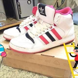 正版Adidas 23.5 高筒鞋